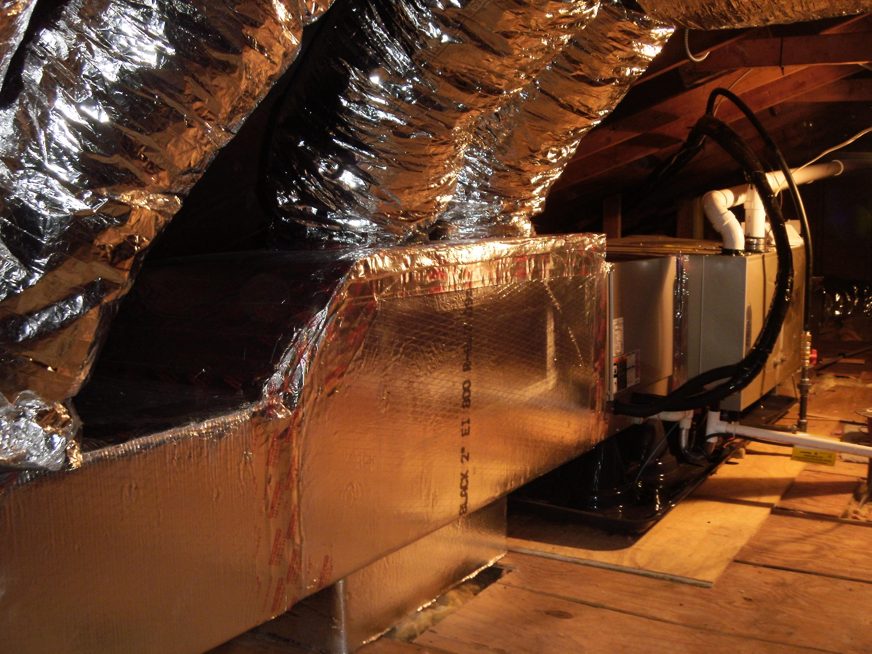 Furnace and Ductwork in Attic & Installation Images and Photo Gallery for Ken Rex Plumbing Heating ...