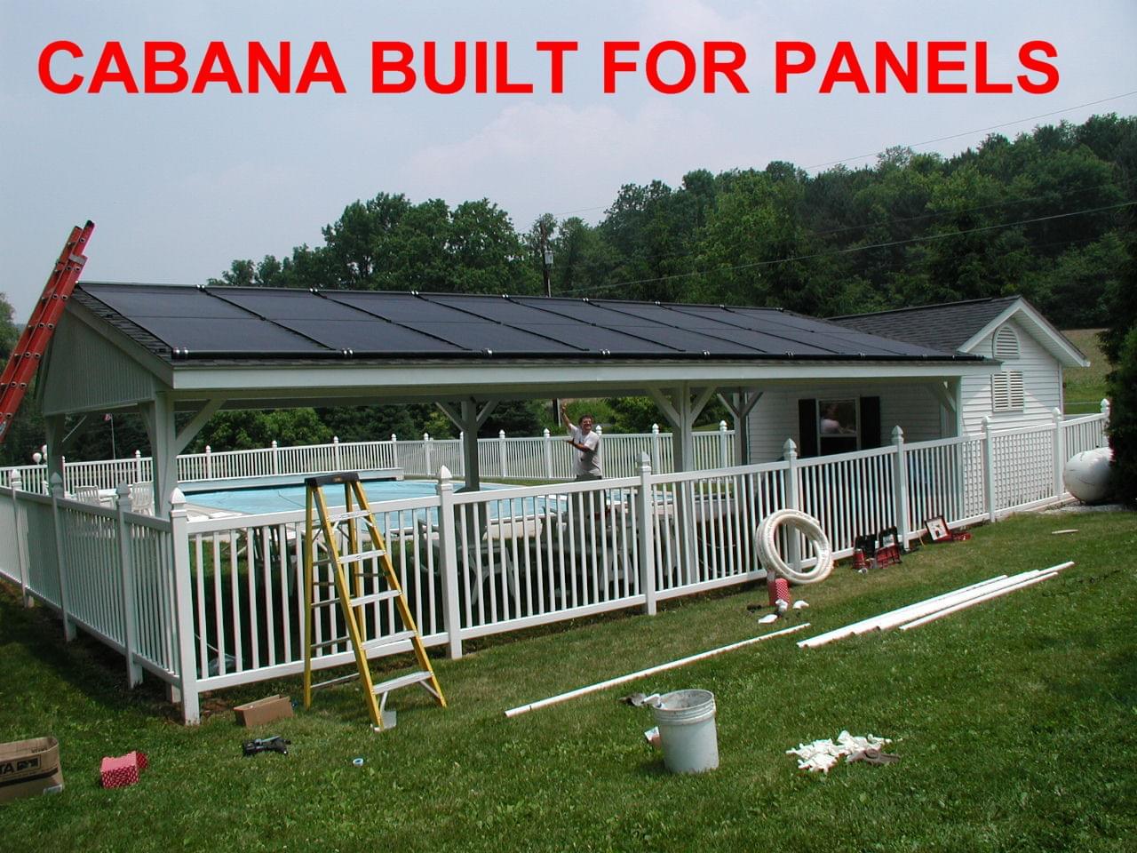 Cabana Solar Pool Heating Installation
